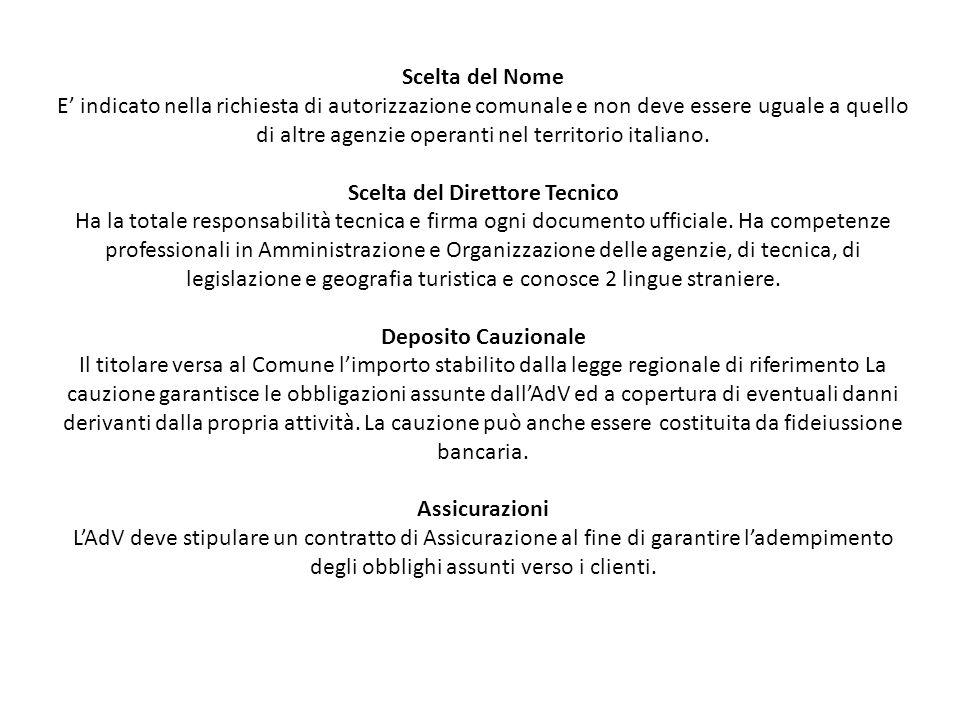 Segnalazione certificata di inizio attività Documento presentato al Comune presso il quale è ubicata l'AdV per comunicare l'apertura della nuova attività.