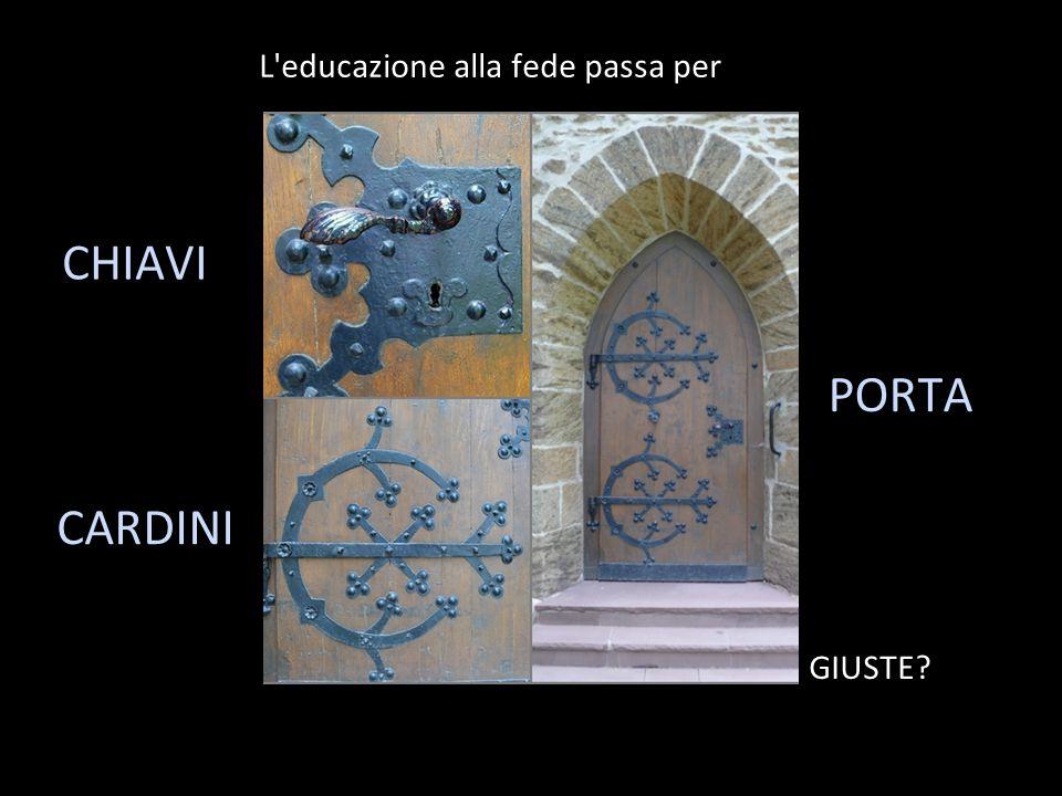 L educazione alla fede passa per CHIAVI CARDINI PORTA GIUSTE?