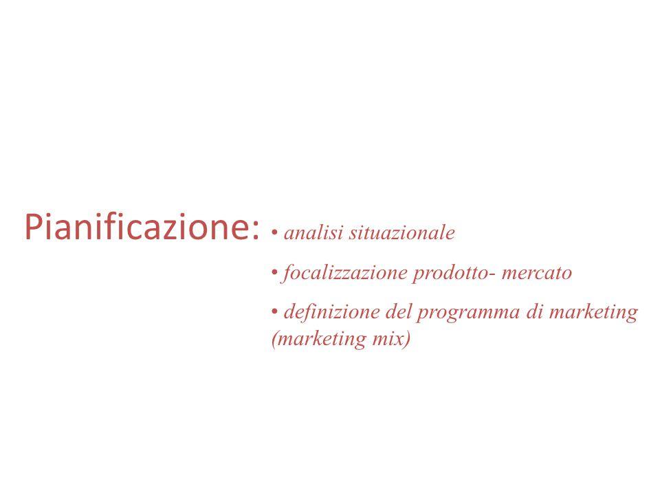 Pianificazione, implementazione e controllo Pianificazione: identificazione delle linee guida, degli obiettivi, dei compiti e dei budget; output previ
