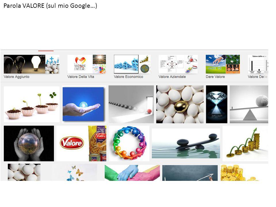Parola VALORE (sul mio Google…)