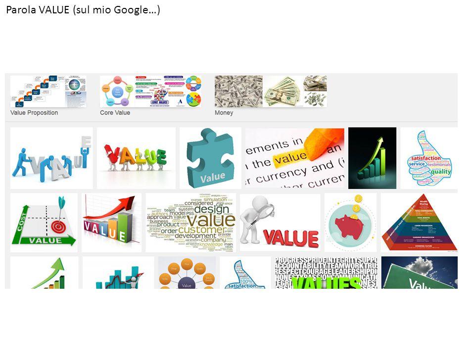 Parola VALUE (sul mio Google…)