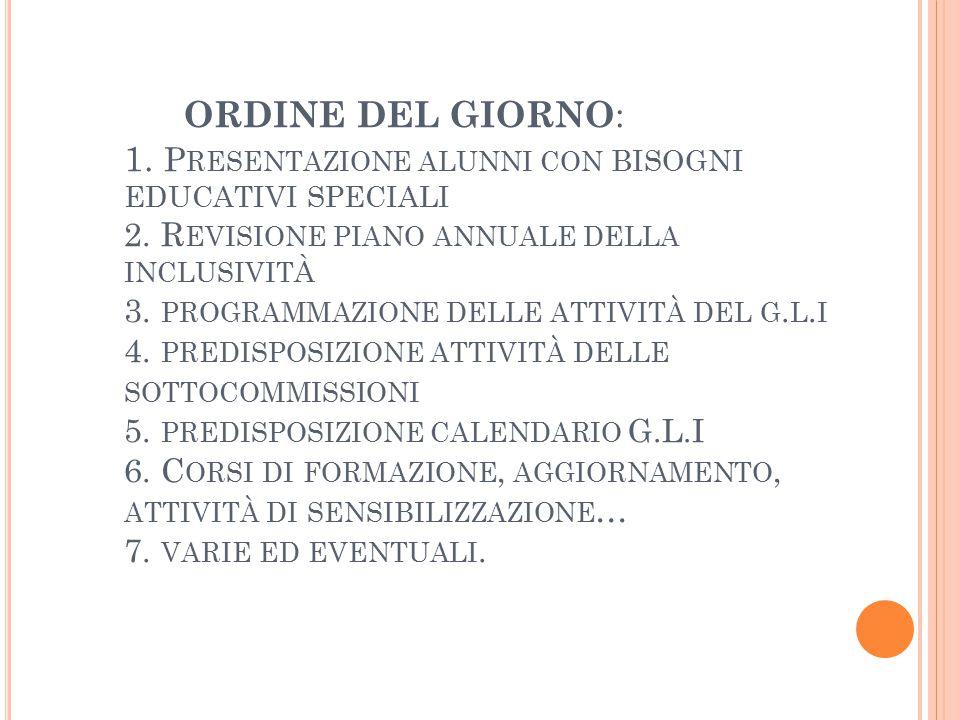 G.L.I.GRUPPO DI LAVORO PER L'INCLUSIONE C.M.