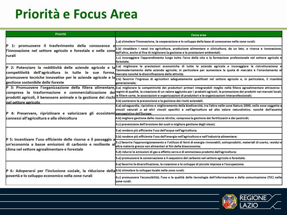 Priorità e Focus Area