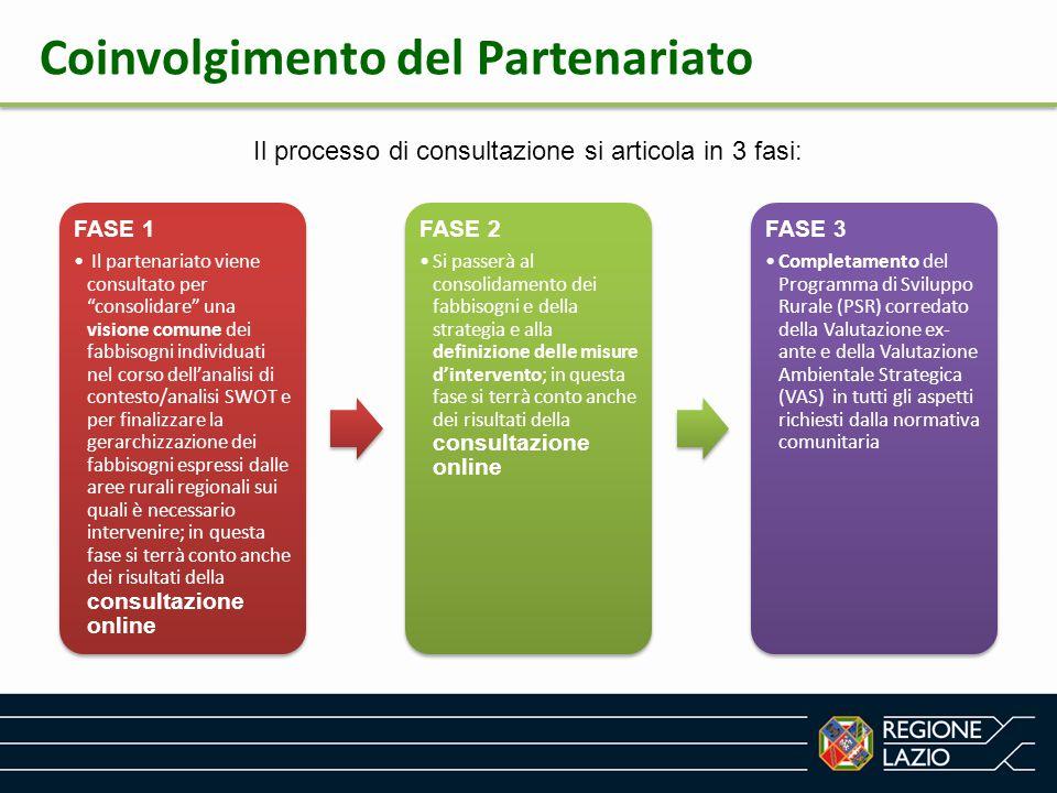 """Il processo di consultazione si articola in 3 fasi: FASE 1 Il partenariato viene consultato per """"consolidare"""" una visione comune dei fabbisogni indivi"""