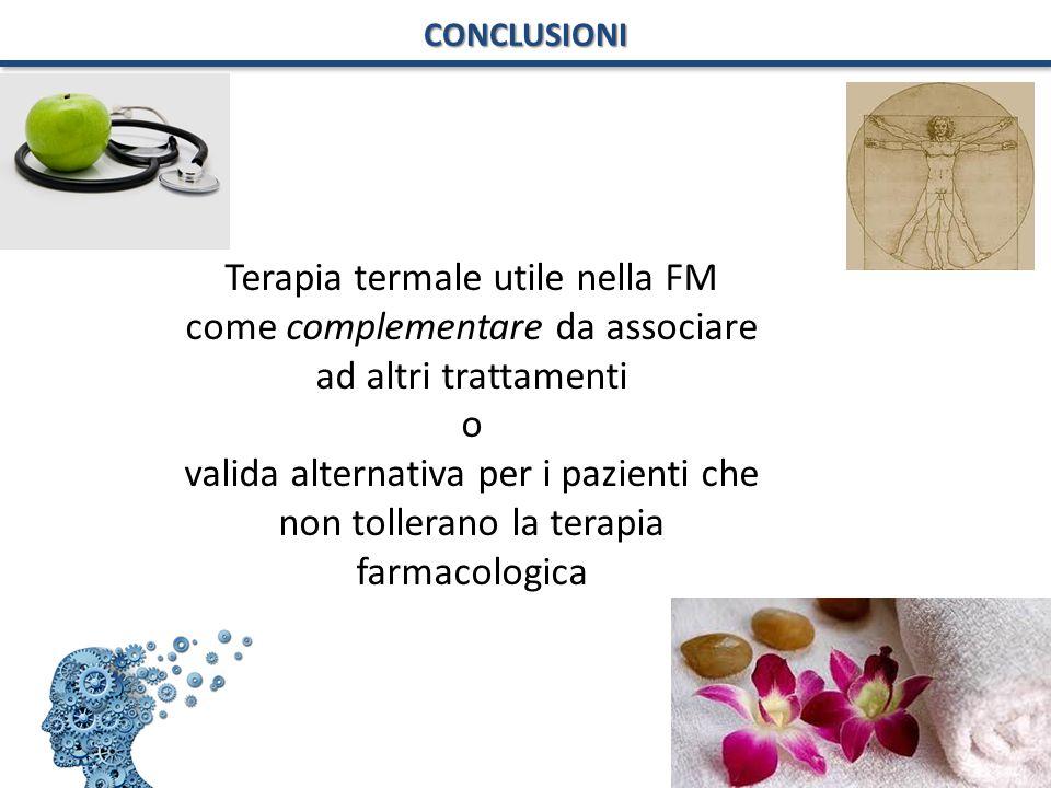 Terapia termale utile nella FM come complementare da associare ad altri trattamenti o valida alternativa per i pazienti che non tollerano la terapia f