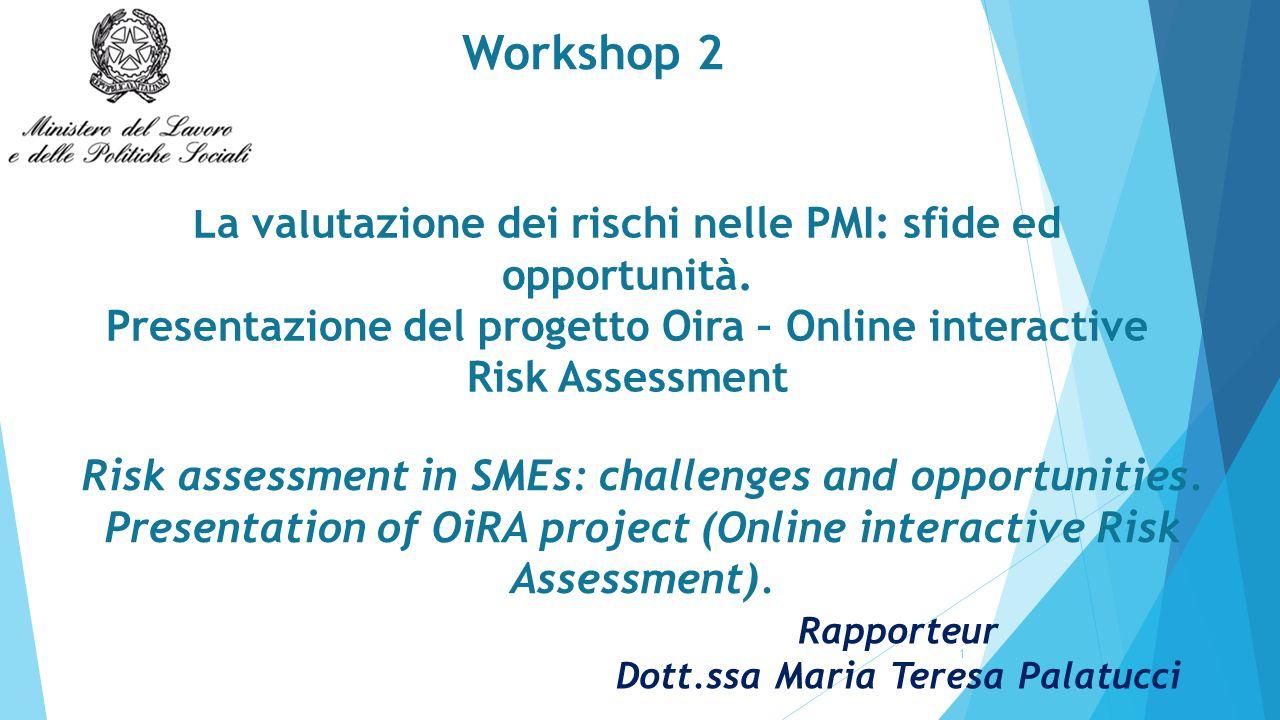 La valutazione dei rischi nelle PMI: sfide ed opportunità.