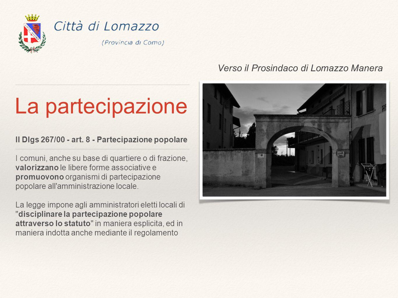 La partecipazione Il Dlgs 267/00 - art.