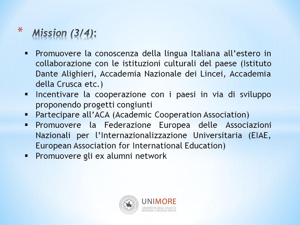  Promuovere la conoscenza della lingua Italiana all'estero in collaborazione con le istituzioni culturali del paese (Istituto Dante Alighieri, Accade