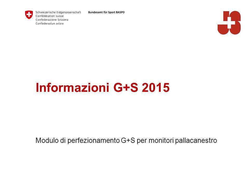 Informazioni G+S 2015 Modulo di perfezionamento G+S per monitori pallacanestro