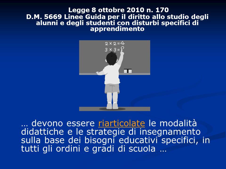 Legge 8 ottobre 2010 n.170 D.M.