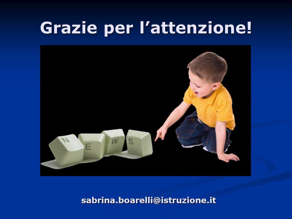 Grazie per l'attenzione! sabrina.boarelli@istruzione.it