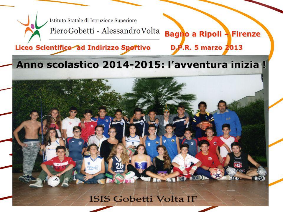 Anno scolastico 2014-2015: l'avventura inizia ! Bagno a Ripoli – Firenze