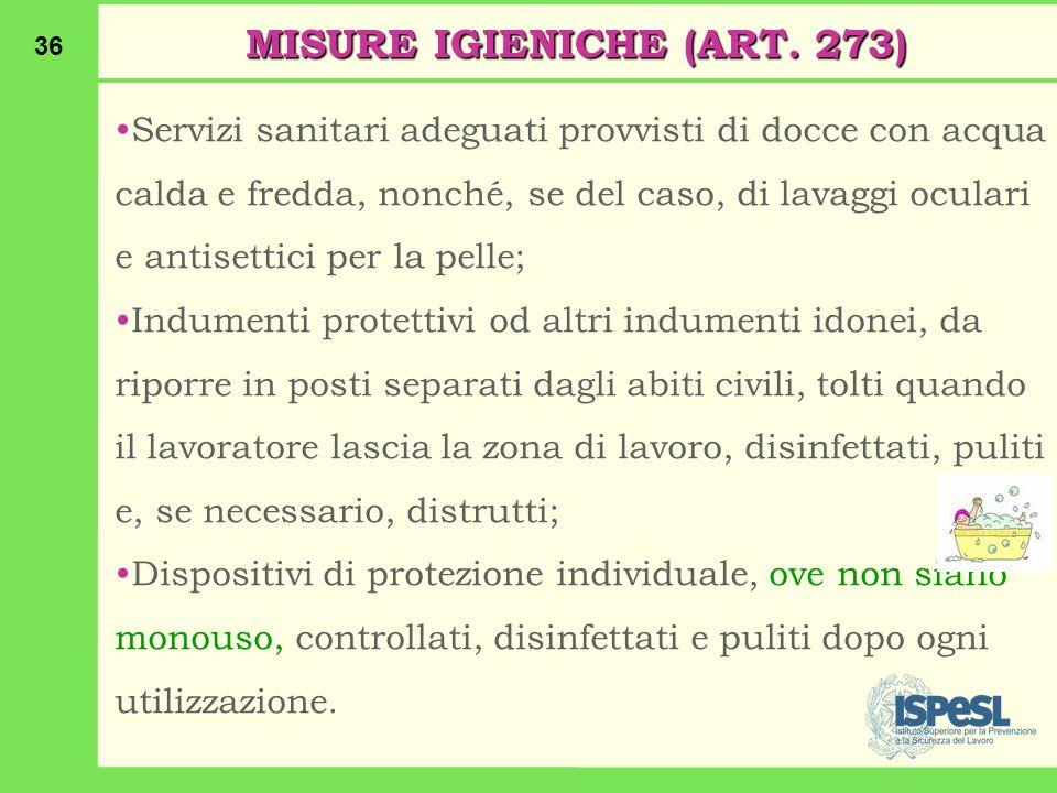 36 MISURE IGIENICHE (ART.