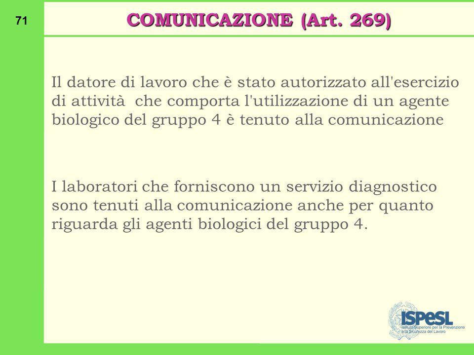 71 COMUNICAZIONE (Art.