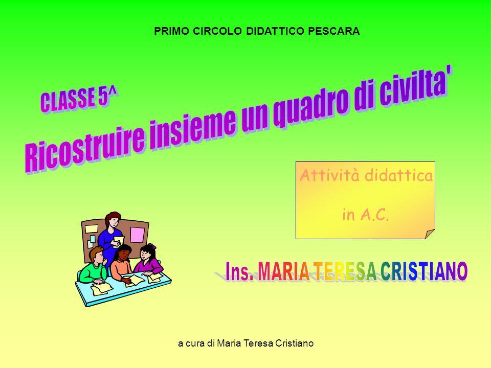 a cura di Maria Teresa Cristiano PRIMO CIRCOLO DIDATTICO PESCARA Attività didattica in A.C.