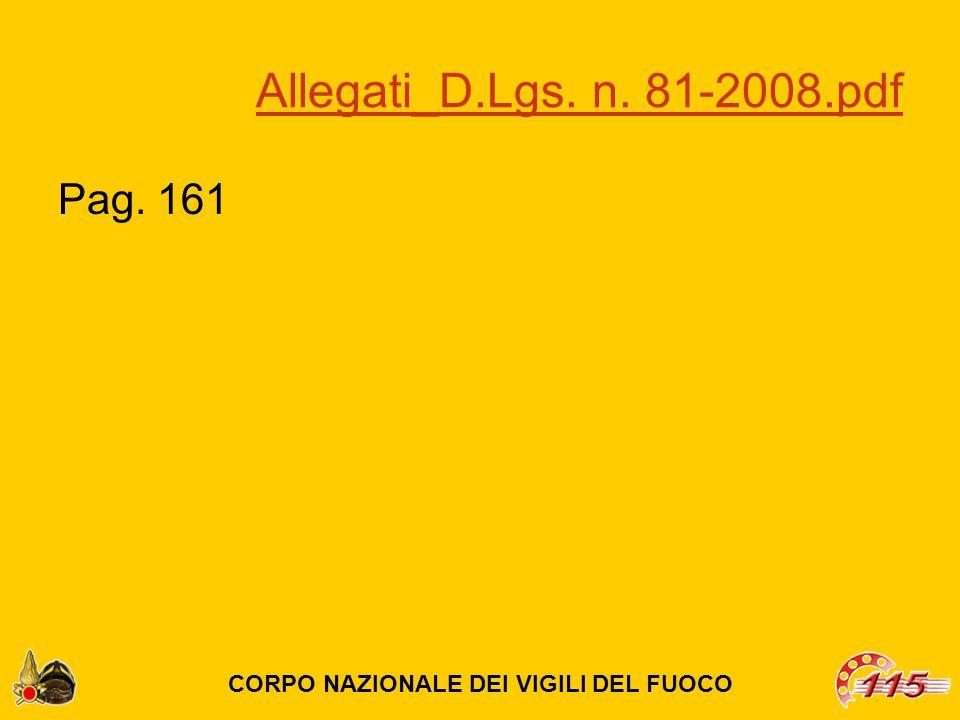 Allegati_D.Lgs. n. 81-2008.pdf Pag. 161 CORPO NAZIONALE DEI VIGILI DEL FUOCO