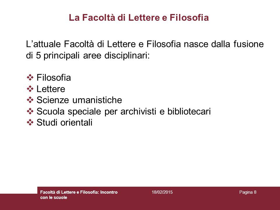 18/02/2015Facoltà di Lettere e Filosofia: Incontro con le scuole Pagina 39 http://www.lettere.uniroma1.it/ …..