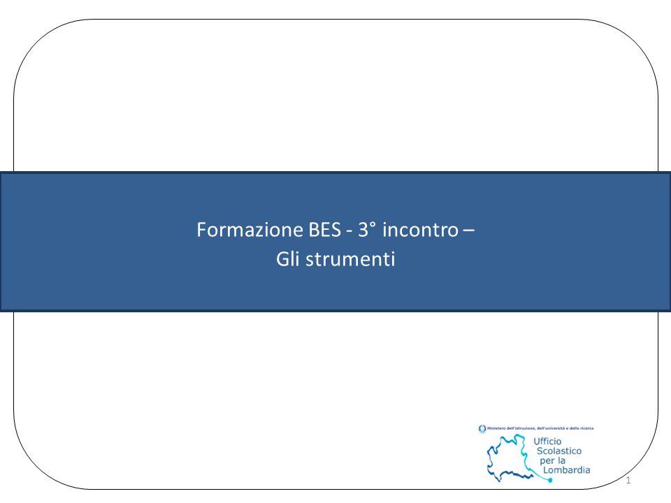 Formazione BES - 3° incontro – Gli strumenti 1