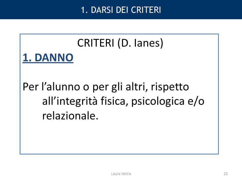 1.DARSI DEI CRITERI CRITERI (D. Ianes) 1.
