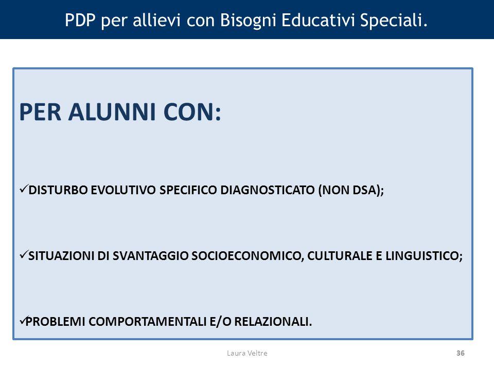 36 PDP per allievi con Bisogni Educativi Speciali.