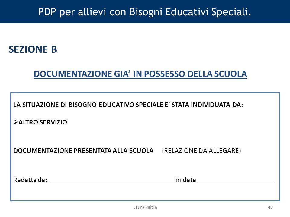 40 PDP per allievi con Bisogni Educativi Speciali.