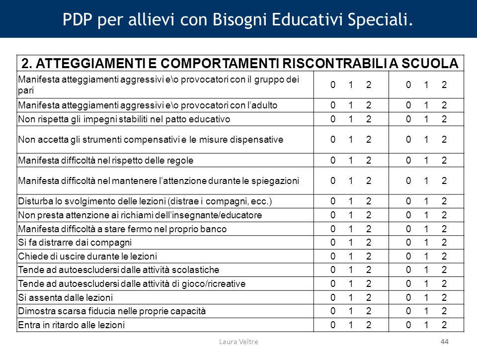 44 PDP per allievi con Bisogni Educativi Speciali.
