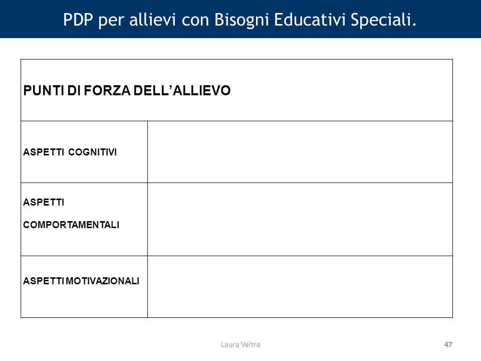 47 PDP per allievi con Bisogni Educativi Speciali.