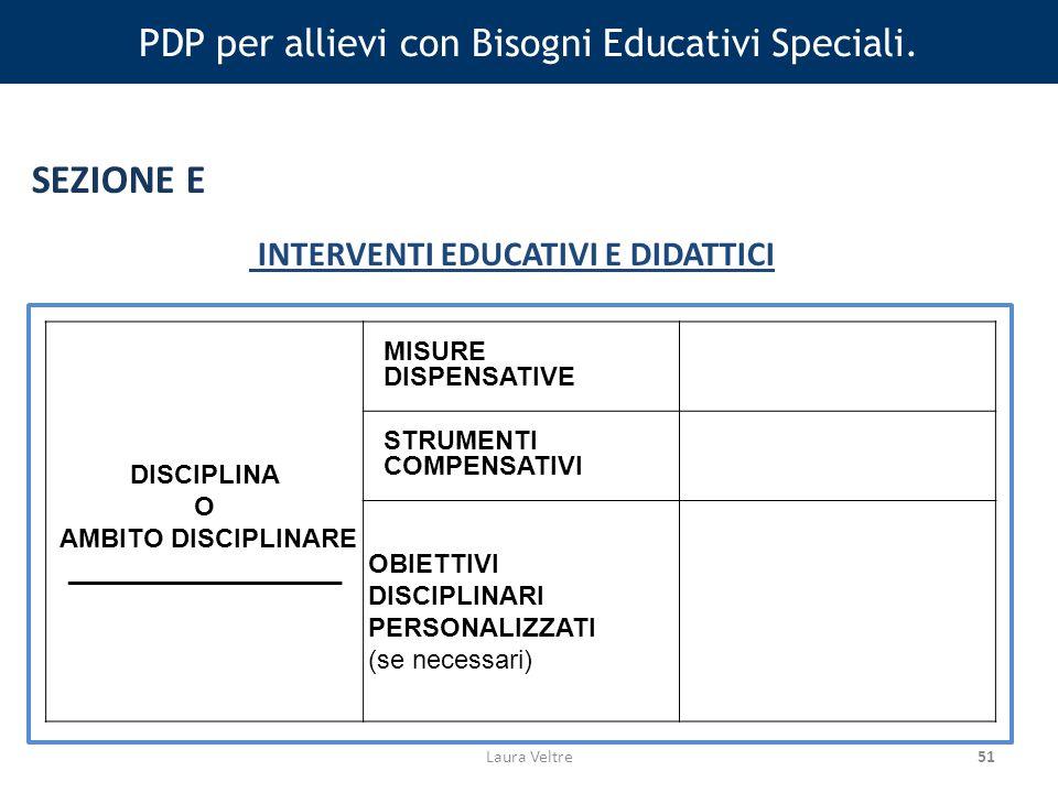 51 PDP per allievi con Bisogni Educativi Speciali.
