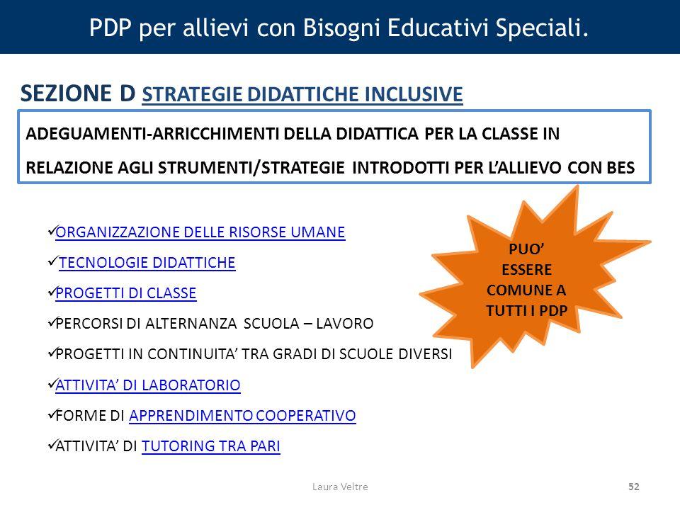 52 PDP per allievi con Bisogni Educativi Speciali.