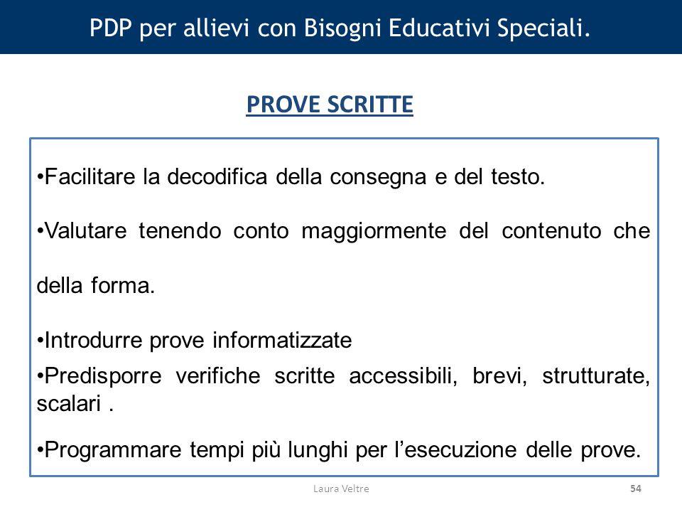 54 PDP per allievi con Bisogni Educativi Speciali.