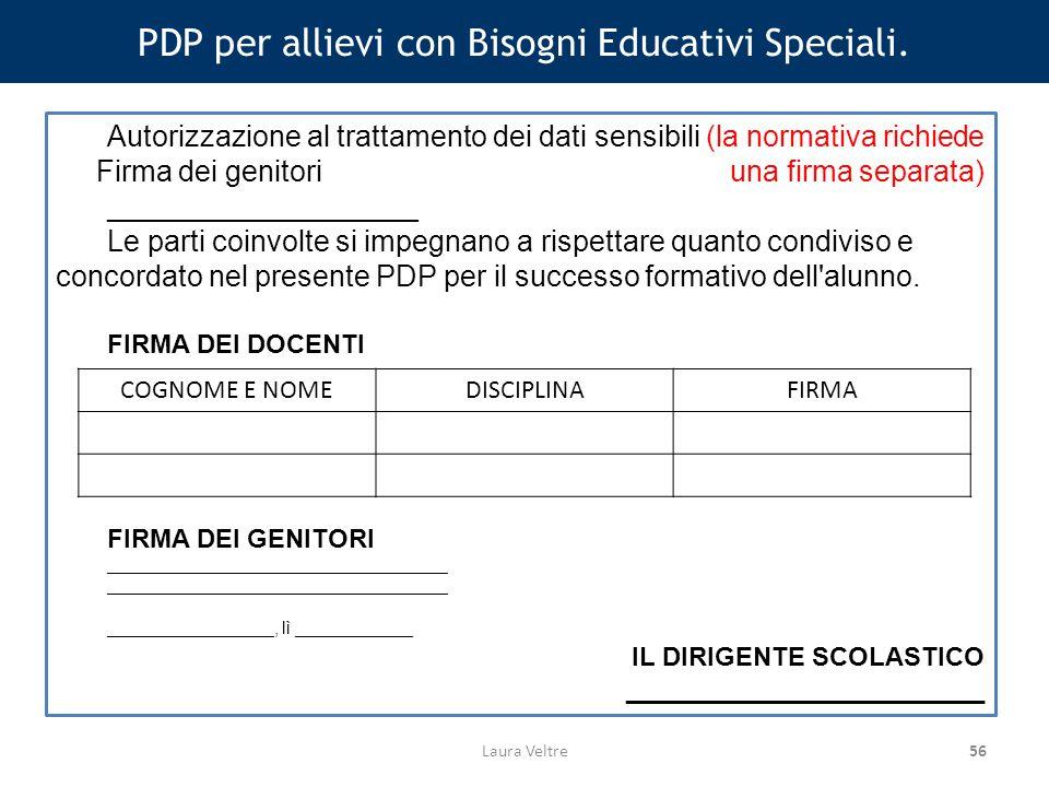 56 PDP per allievi con Bisogni Educativi Speciali.