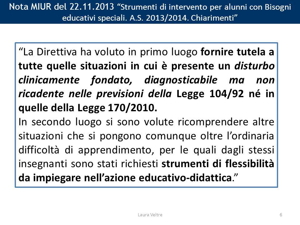 Nota MIUR del 22.11.2013 Strumenti di intervento per alunni con Bisogni educativi speciali.