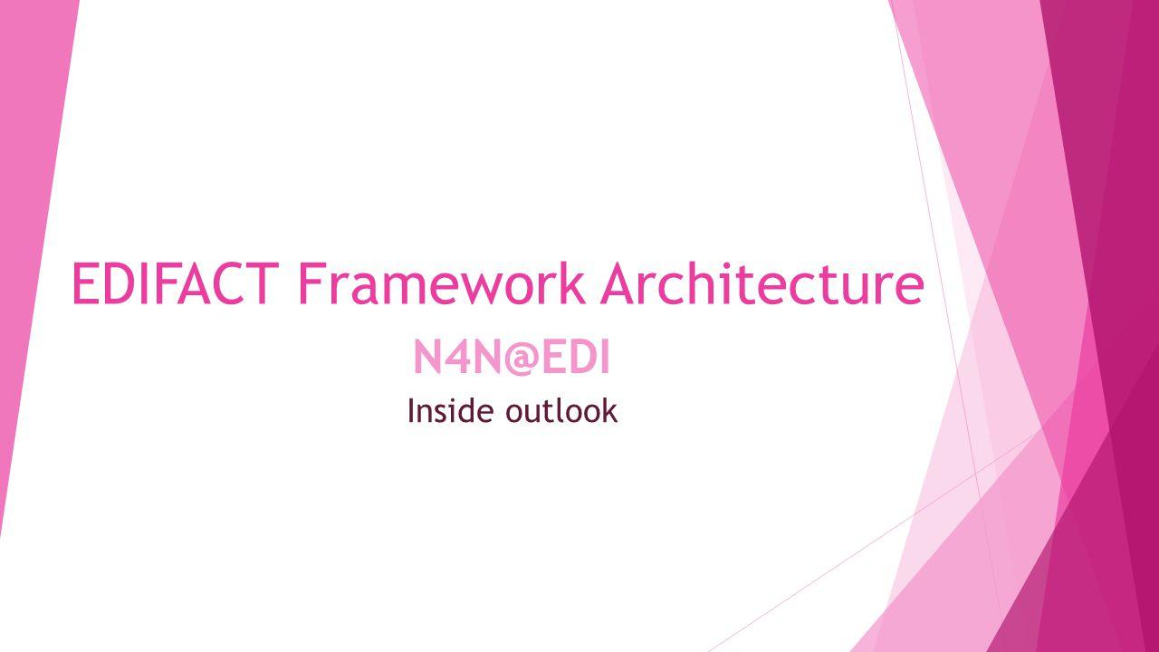 Inside outlook EDIFACT Framework Architecture N4N@EDI