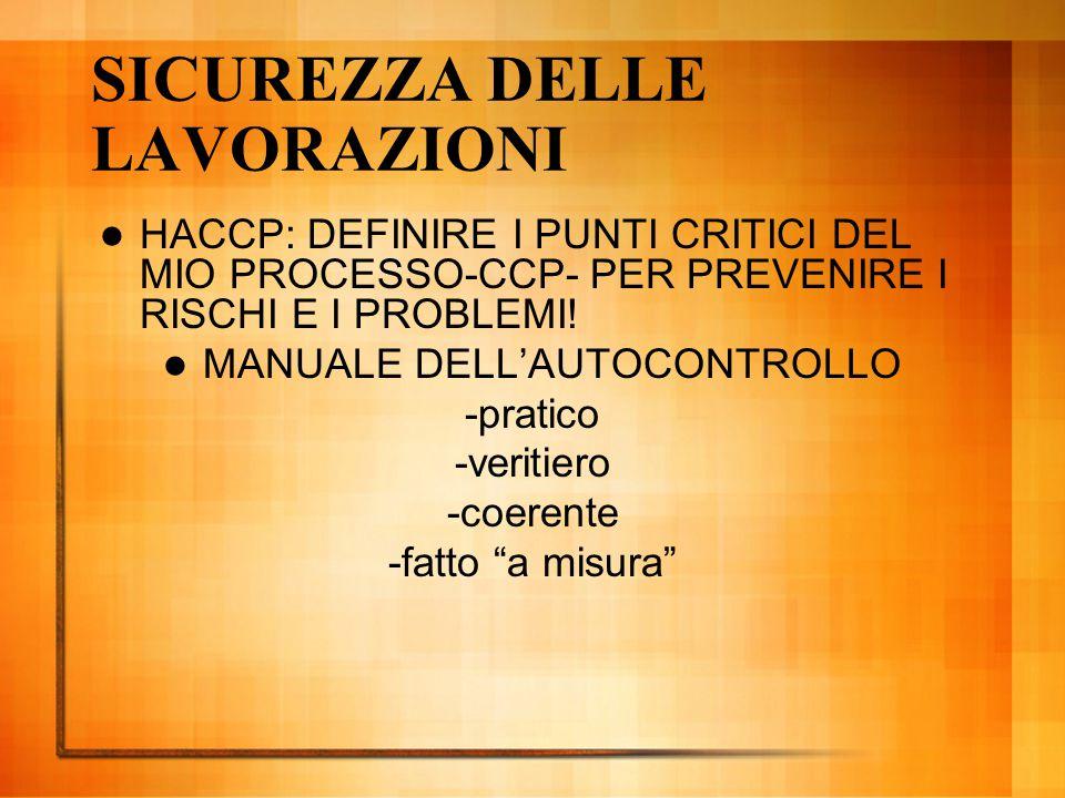 SICUREZZA DELLE LAVORAZIONI HACCP: DEFINIRE I PUNTI CRITICI DEL MIO PROCESSO-CCP- PER PREVENIRE I RISCHI E I PROBLEMI! MANUALE DELL'AUTOCONTROLLO -pra