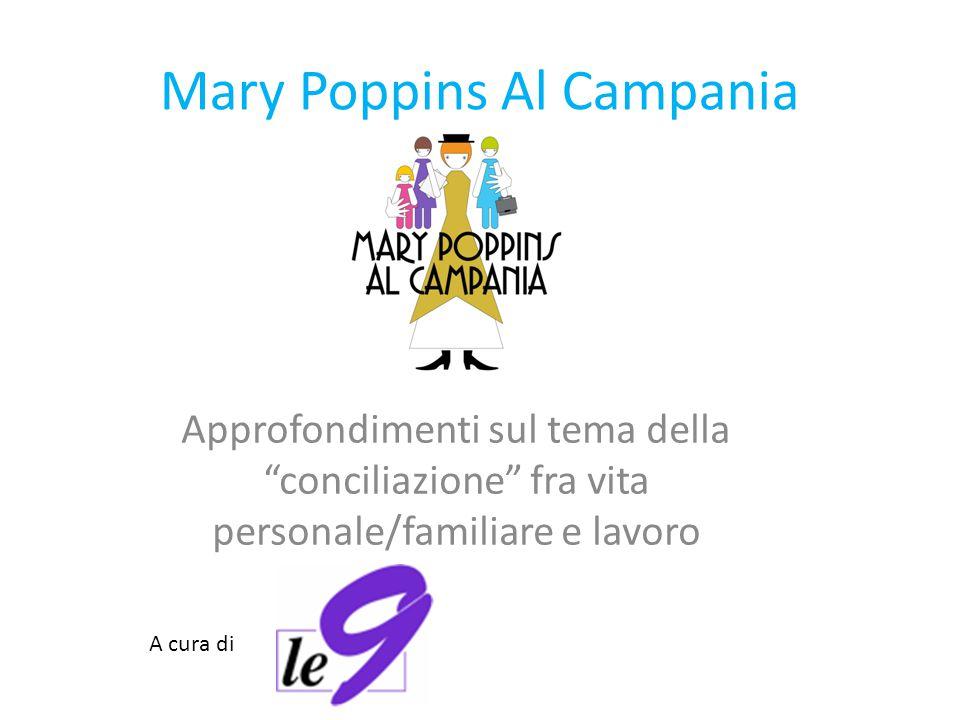 Mary Poppins Al Campania Approfondimenti sul tema della conciliazione fra vita personale/familiare e lavoro A cura di