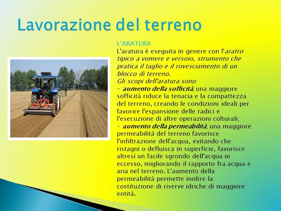 L'ERPICATURA L'erpicatura in agricoltura è una lavorazione del terreno complementare eseguita come lavoro di rifinitura prima della semina.