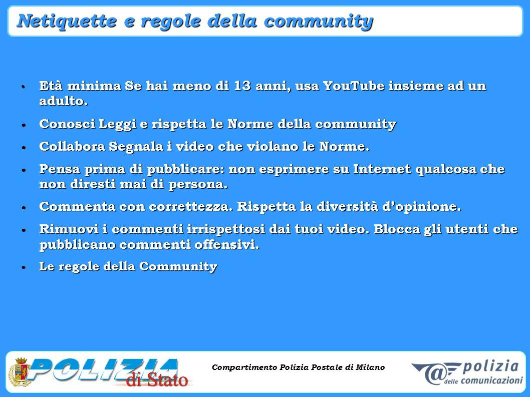 Compartimento Polizia Postale di Milano Phishing e criminalità informatica Compartimento Polizia Postale di Milano Netiquette e regole della community