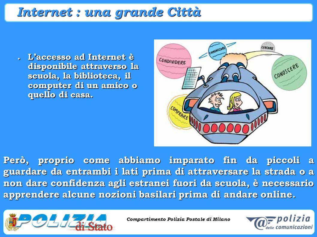 Compartimento Polizia Postale di Milano Phishing e criminalità informatica Compartimento Polizia Postale di Milano Internet : una grande Città ● L'acc