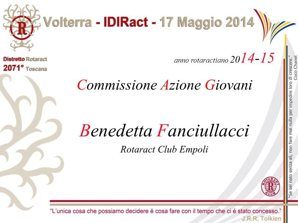 anno rotaractiano 20 14-15 Commissione Azione Giovani Benedetta Fanciullacci Rotaract Club Empoli