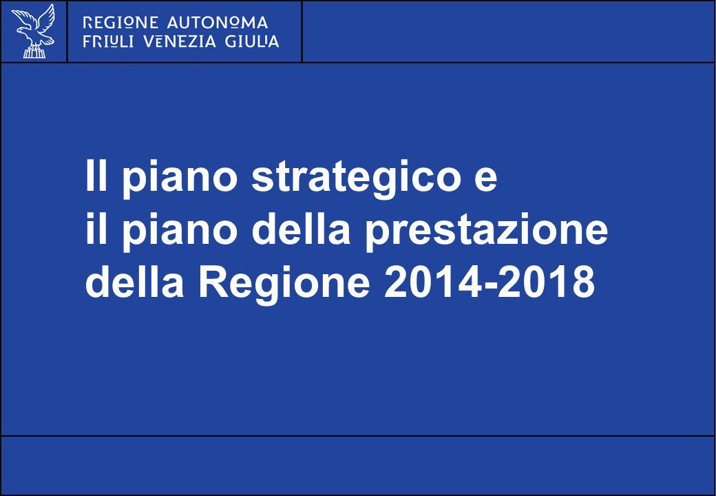 Il piano strategico e il piano della prestazione della Regione 2014-2018