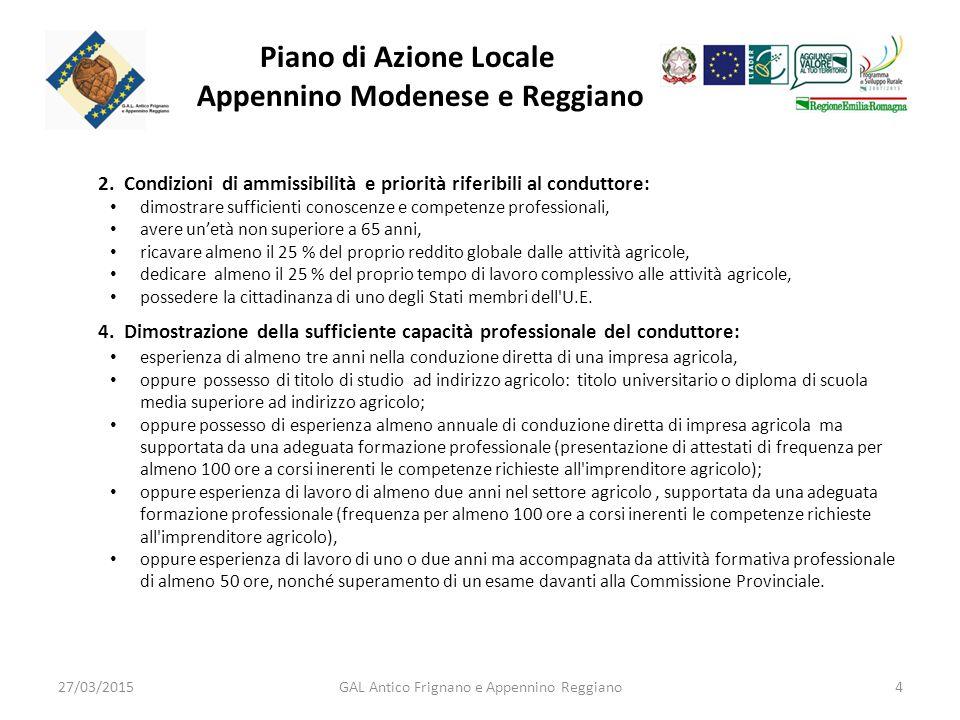 Piano di Azione Locale Appennino Modenese e Reggiano 2.