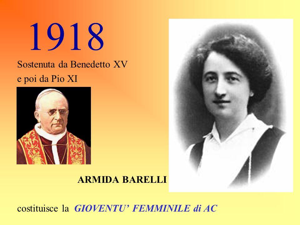 1919 Con Don Sturzo si fa più netta la divisione dei compiti tra Azione Cattolica, Sindacato e Partito