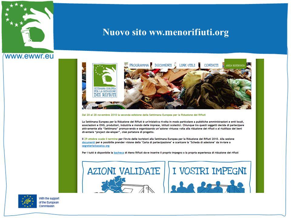 Nuovo sito ww.menorifiuti.org