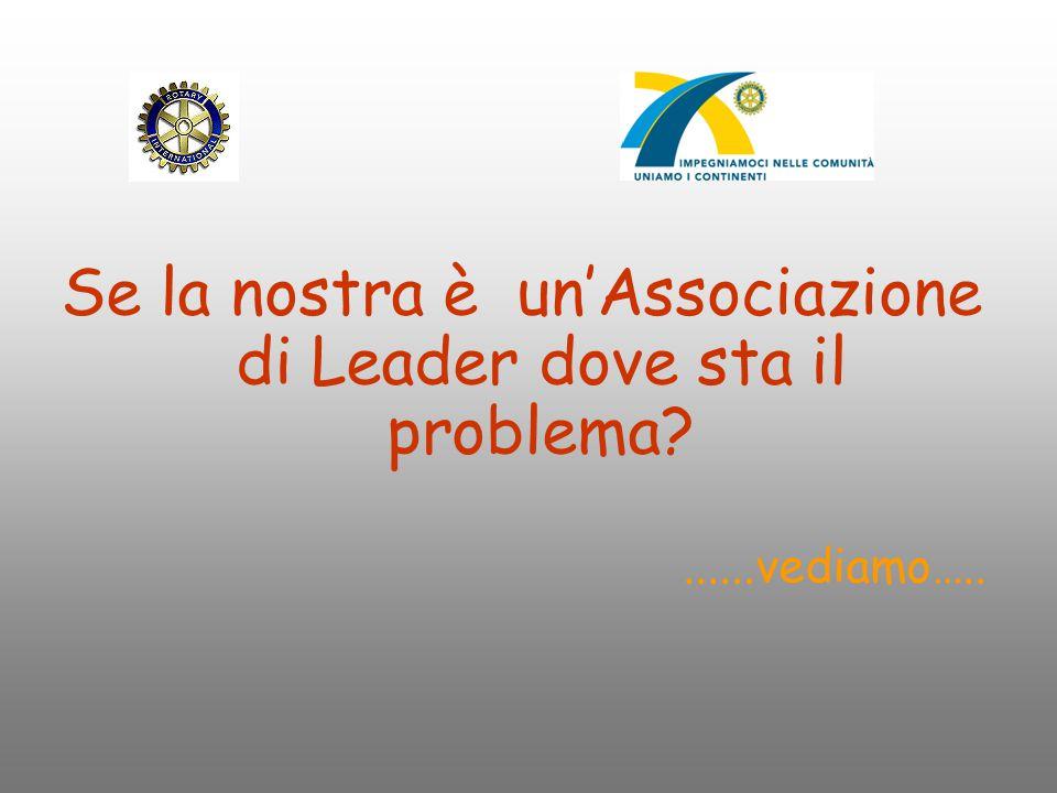 Se la nostra è un'Associazione di Leader dove sta il problema?......vediamo…..