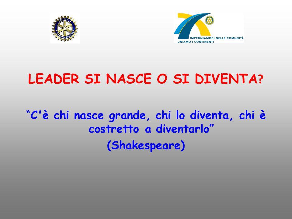 """LEADER SI NASCE O SI DIVENTA ? """"C'è chi nasce grande, chi lo diventa, chi è costretto a diventarlo"""" (Shakespeare)"""