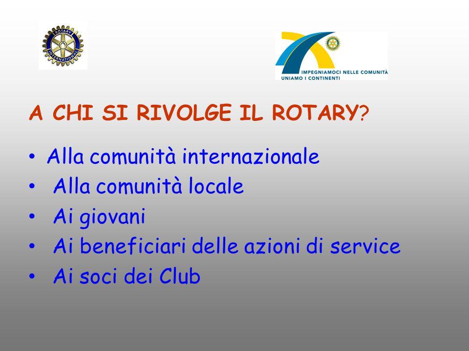Cosa offre il Rotary.