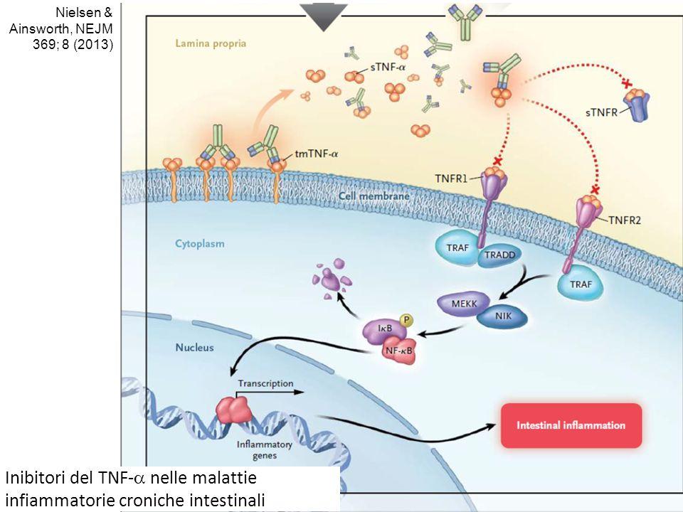 Inibitori del TNF-  nelle malattie infiammatorie croniche intestinali Nielsen & Ainsworth, NEJM 369; 8 (2013)