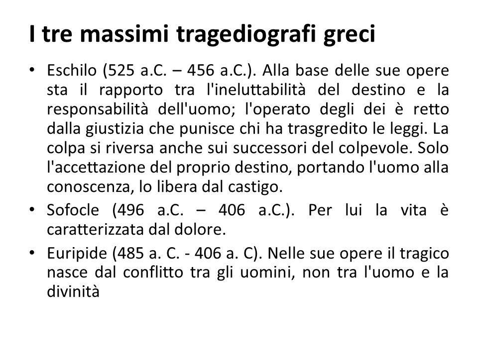 I tre massimi tragediografi greci Eschilo (525 a.C.