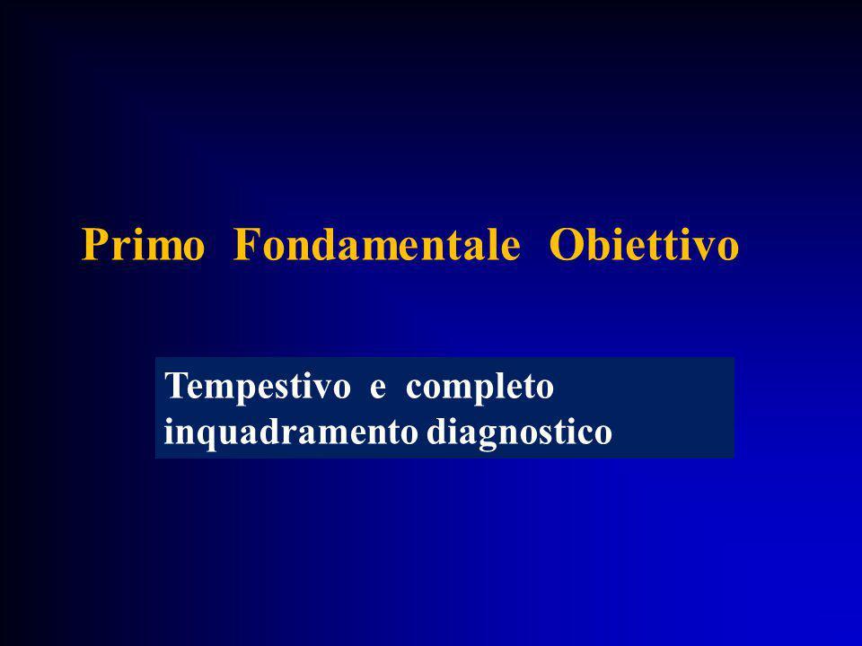 Primo Fondamentale Obiettivo Tempestivo e completo inquadramento diagnostico