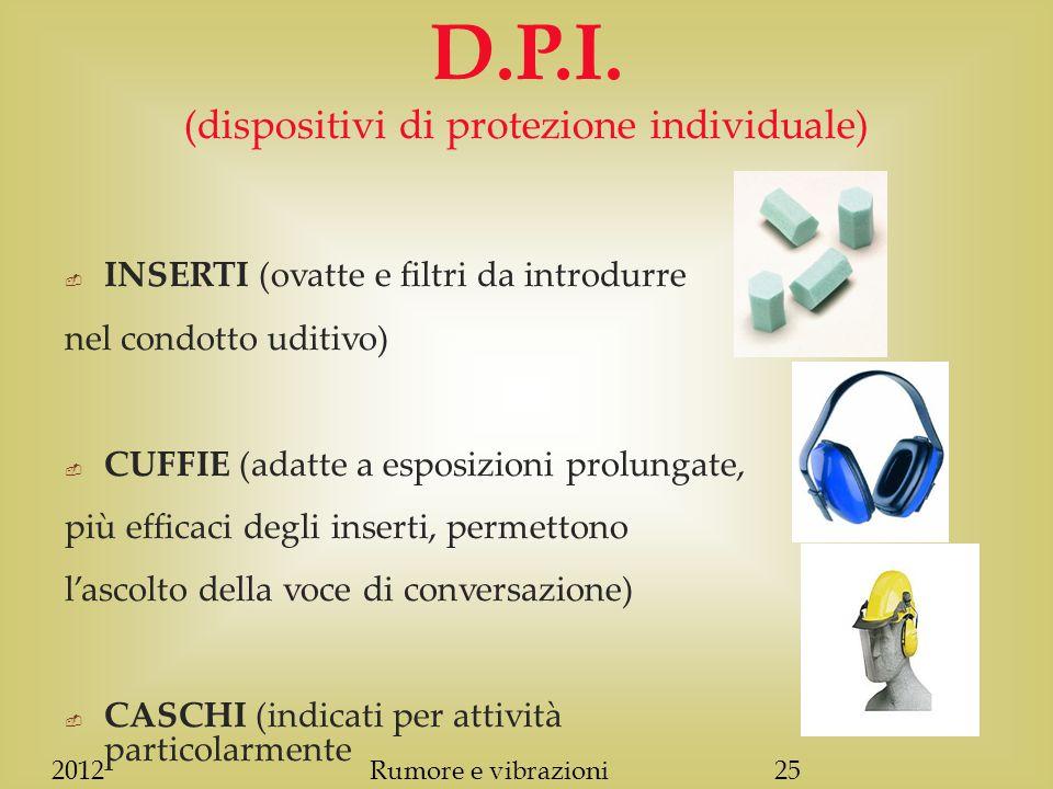 2012Rumore e vibrazioni25 D.P.I.